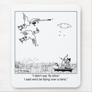 Duck Flying Blind Mouse Pad