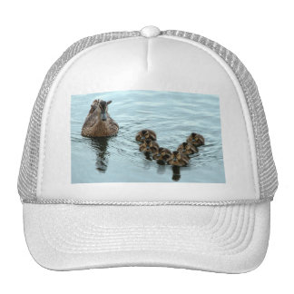 duck formation mesh hats