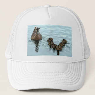 duck formation trucker hat