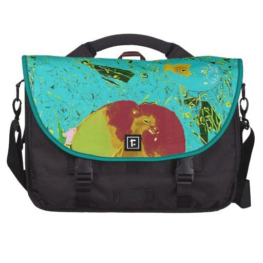 Duck Frog Fish Surreal Design Laptop Bag
