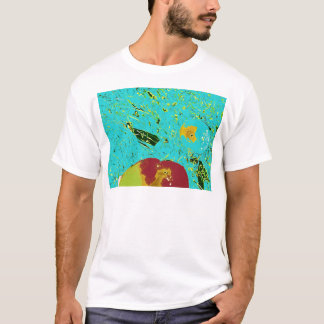 Duck Frog Peach and Fish Surreal Design T-Shirt