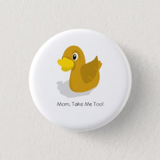 Duck Funny Button