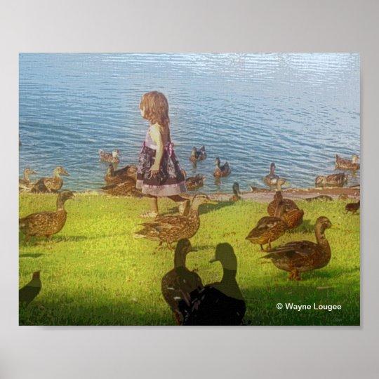Duck Girl Poster