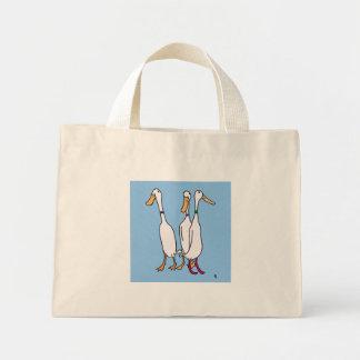 Duck hacia fuera a las tiendas con este bolso lind bolsa tela pequeña