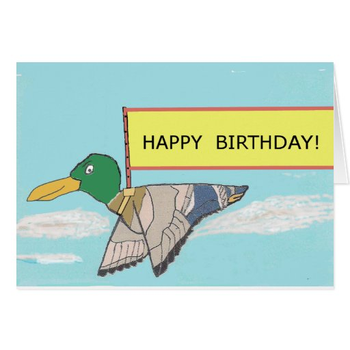 Duck - Happy Birthday Card