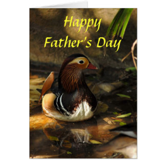 Duck, Happy Father's Day Card