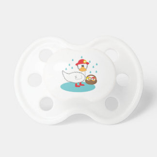 Duck & her ducklings Illustration Pacifiers
