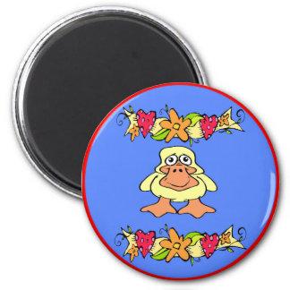 Duck Hex Sign Cartoon Magnet