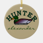 Duck Hunter- Personalized Double-Sided Ceramic Round Christmas Ornament