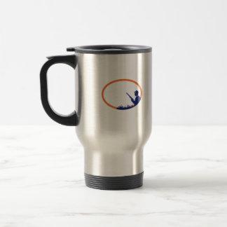 Duck Hunter Shotgun Oval Retro Travel Mug