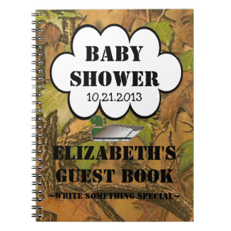 Duck Hunters Baby Shower Guestbook Notebook
