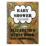 Duck Hunters Baby Shower Guestbook Spiral Notebook