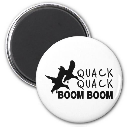 DUCK HUNTING 2 INCH ROUND MAGNET