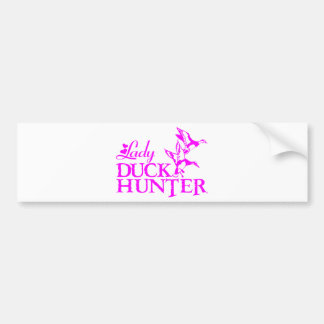 DUCK HUNTING BUMPER STICKER