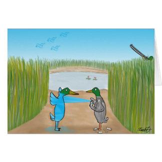 Duck Hunting Cartoon Greeting Card