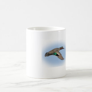 Duck Hunting greenwing teal coffee cup
