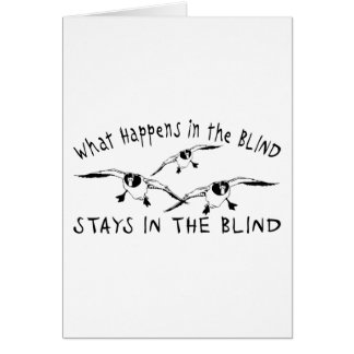 DUCK HUNTING GREETING CARD