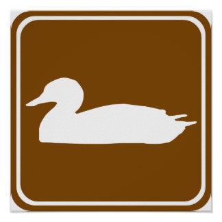 Duck Hunting Highway Sign (1)