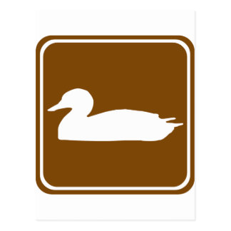 Duck Hunting Highway Sign (1) Postcard