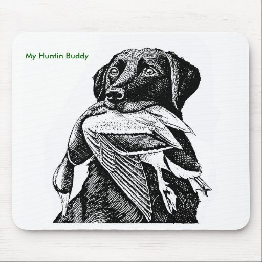 Duck Hunting Labrador Mousepad