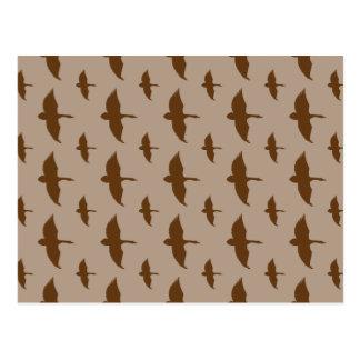 Duck Hunting pattern Postcard