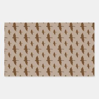 Duck Hunting pattern Rectangular Stickers