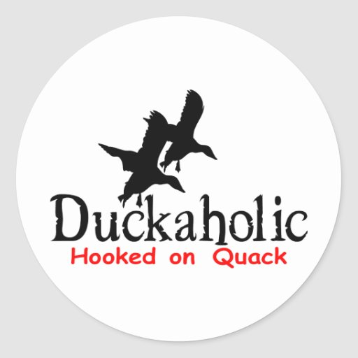 DUCK HUNTING ROUND STICKERS
