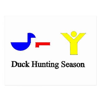 Duck Hunting Season Postcard