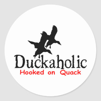 DUCK HUNTING CLASSIC ROUND STICKER