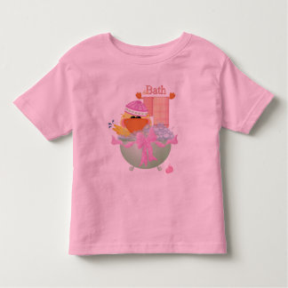 Duck in a Green Bathtub With Pink Bow Toddler T-shirt