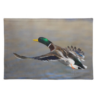 duck in flight cloth placemat