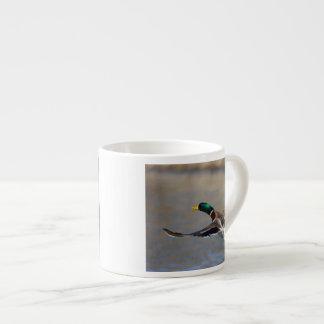 duck in flight espresso cup