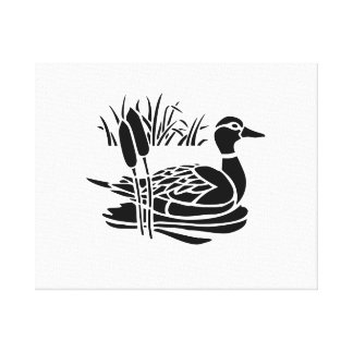 Duck in Pond Gallery Wrapped Canvas