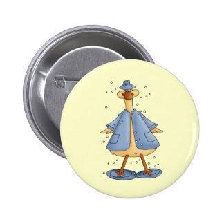 Duck In Raincoat Pins