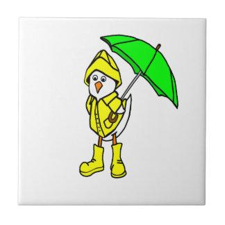 Duck In Raincoat Tile