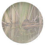 Duck In Reeds Plate