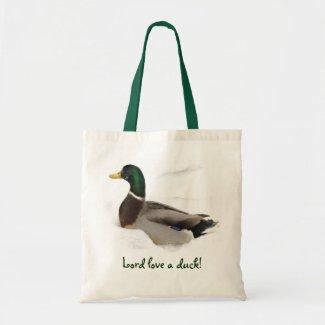 Duck in Snow bag