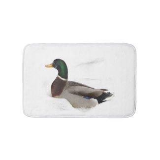 Duck in Snow Bath Mats