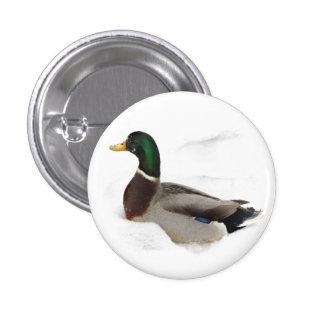Duck in Snow Button