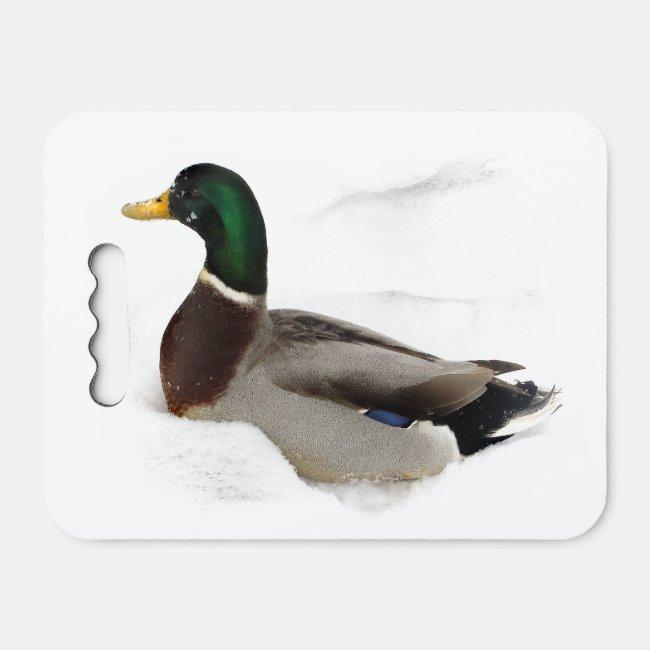 Duck in Snow Kneeling Pad
