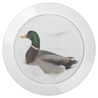 Duck in Snow USB Charging Station