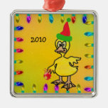 Duck in Stained Glass Metal Ornament