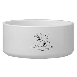Duck in the Rain Pet Food Bowls