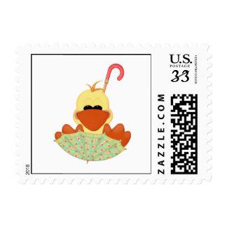 Duck in Umbrella Postage