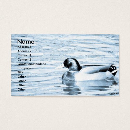 Duck in Water Business Card