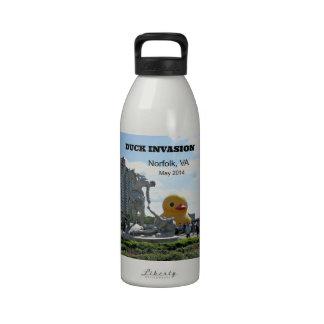 Duck Invasion, Norfolk, VA Reusable Water Bottles