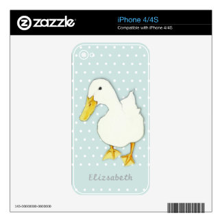 Duck Kiss dots iPhone 4/4S Skin Skins For iPhone 4S