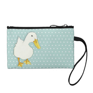 Duck Kiss dots Key Coin Clutch Bag