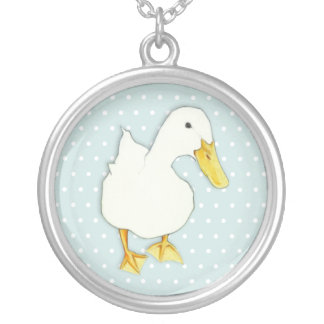 Duck Kiss dots Silver Plated Necklace