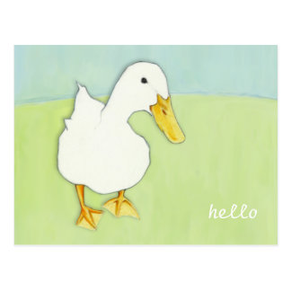 Duck Kiss Hello Postcard